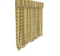 平帷帘头回形方格窗帘3D模型