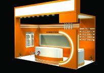 橙色系展厅3D模型图