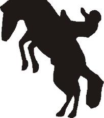 骑马人物剪影
