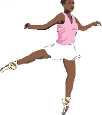 跳芭蕾的黑人美女