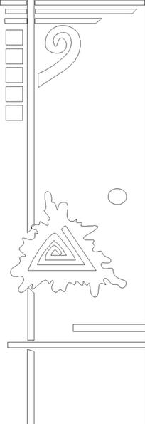 不规则线条商务画册封面设计