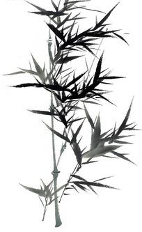 中国画竹叶图片