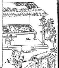 古代线描人物—华山陈图南先生图片