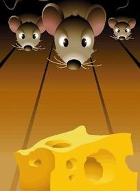 卡通奶酪和老鼠
