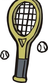 网球卡通_