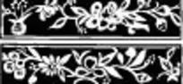 黑白古典花纹边框