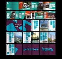 简约国际比赛宣传画册模板
