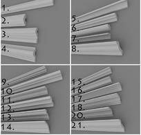 欧式石膏阴角线合集3d模型 max