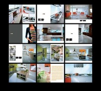 清新时尚家庭厨柜宣传画册
