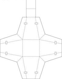 商业包装盒平面刀模