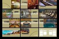 休闲会所室内效果图表现画册