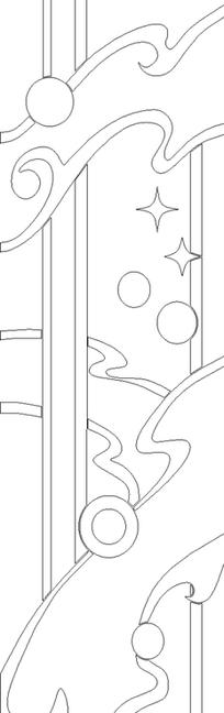 工程图 简笔画 平面图 手绘 线稿 204_648