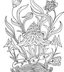 莲藕和莲蓬矢量图_传统图案图片