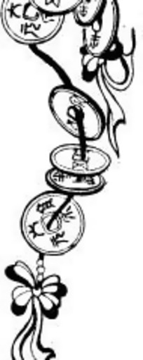 手绘古代钱币