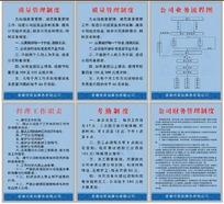 公司管理制度展板