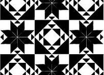 八瓣花朵和三角形构成的图案图片