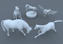 马的暇想3D模型