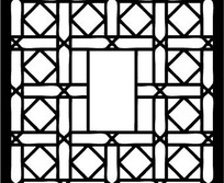 中国古典图案-方形和菱形构成的连续纹样图片