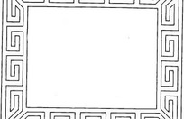 中国古典图案-回纹构成的边框