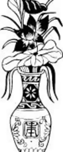 荷花花瓶装饰图案