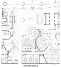 国外酒店大堂的布局规划图