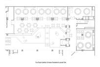 皇家花园中国餐馆室内平面布局图