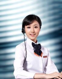微笑的中国税务服务女职员