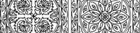 圆形花纹适合纹样素材