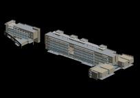 两栋房屋3D渲染效果图