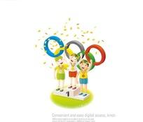 卡通奥运五环获奖运动员