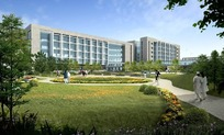 医院高楼大厦效果图PSD素材