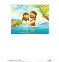 站在河水中的两个大胡子男人卡通插画AI矢量文件