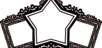 单色欧式五角星边框AI矢量文件