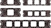 欧式花纹装饰圆角矩形框AI矢量文件