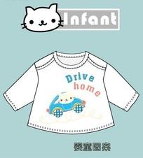 infant婴童衣服图案失量图