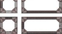八边形复古装饰框AI矢量文件