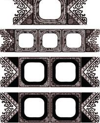 传统花纹装饰圆角方框AI矢量文件