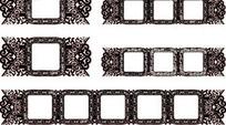 中国古典藤蔓装饰方框AI矢量文件