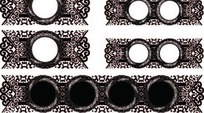 中国古典藤蔓装饰圆框AI矢量文件