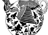 中国古典图案-雕刻凤凰缠枝回纹球瓶