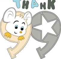 可爱的小老鼠卡通矢量图案