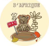 可爱卡通小熊矢量图