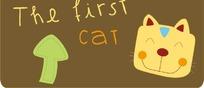 笑眯眯的猫咪可爱卡通头像