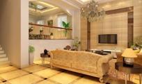 温馨的欧式别墅客厅效果图3d模型 max
