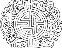 古典矢量花纹图案AI素材