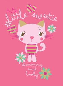 可爱卡通粉色猫咪素材