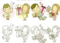 男生向女生表白、送礼物