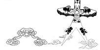 中国古典图案-风筝和云纹构成的图案