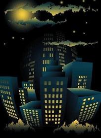 高楼大厦卡通画_打地鼠游戏里的高楼大厦和金币卡通画