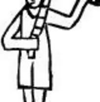 男子站立双手舞剑图片
